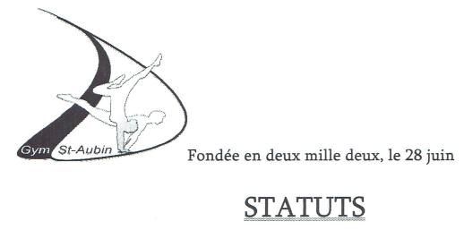 Statuts Gym St-Aubin